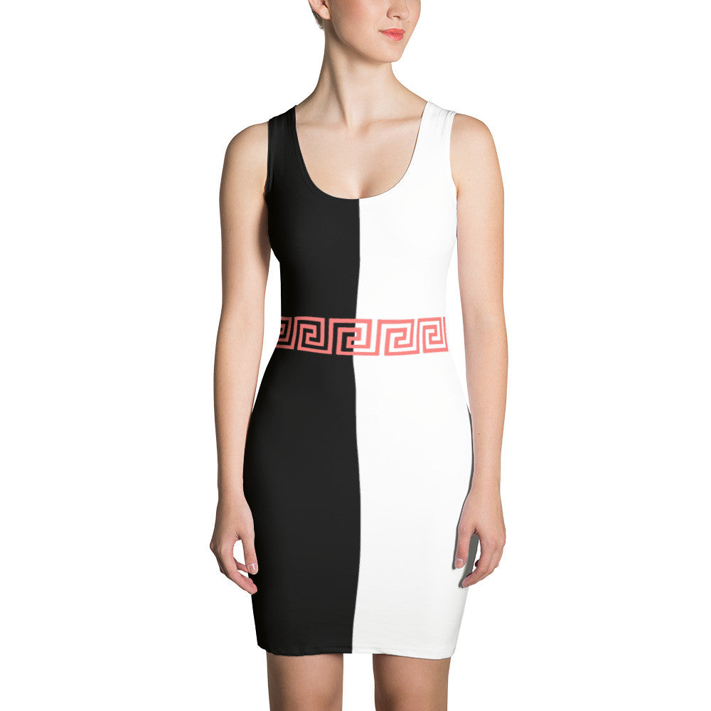 EXCLUSIVE LIMITED EDITION BLOCK OUT BODYCON DRESS - Poetic Gangster