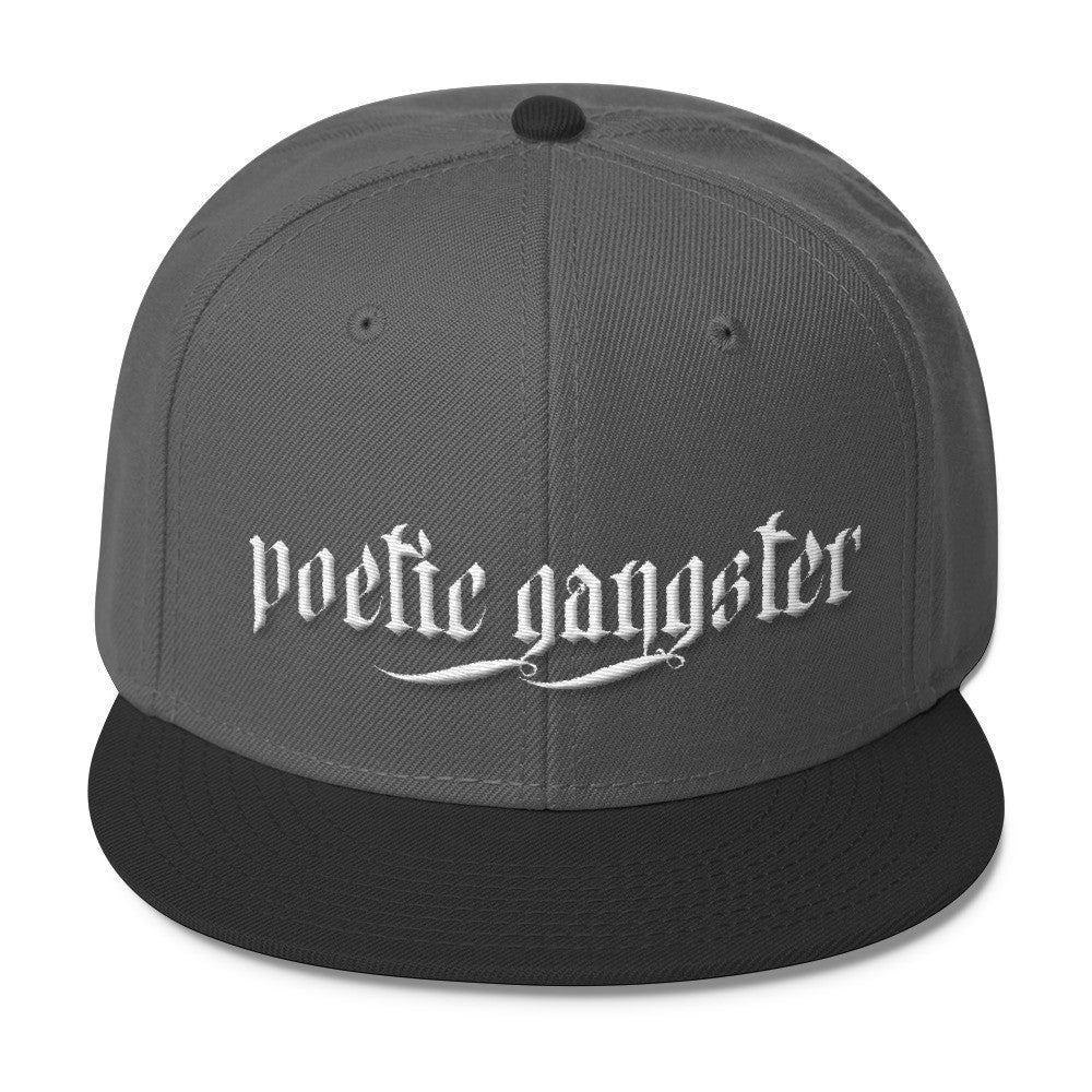 Poetic Gangster Grey Blend Snapback - Poetic Gangster