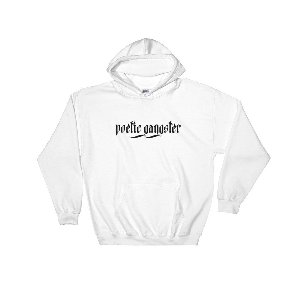 Classic White Poetic Gangster Hoodie