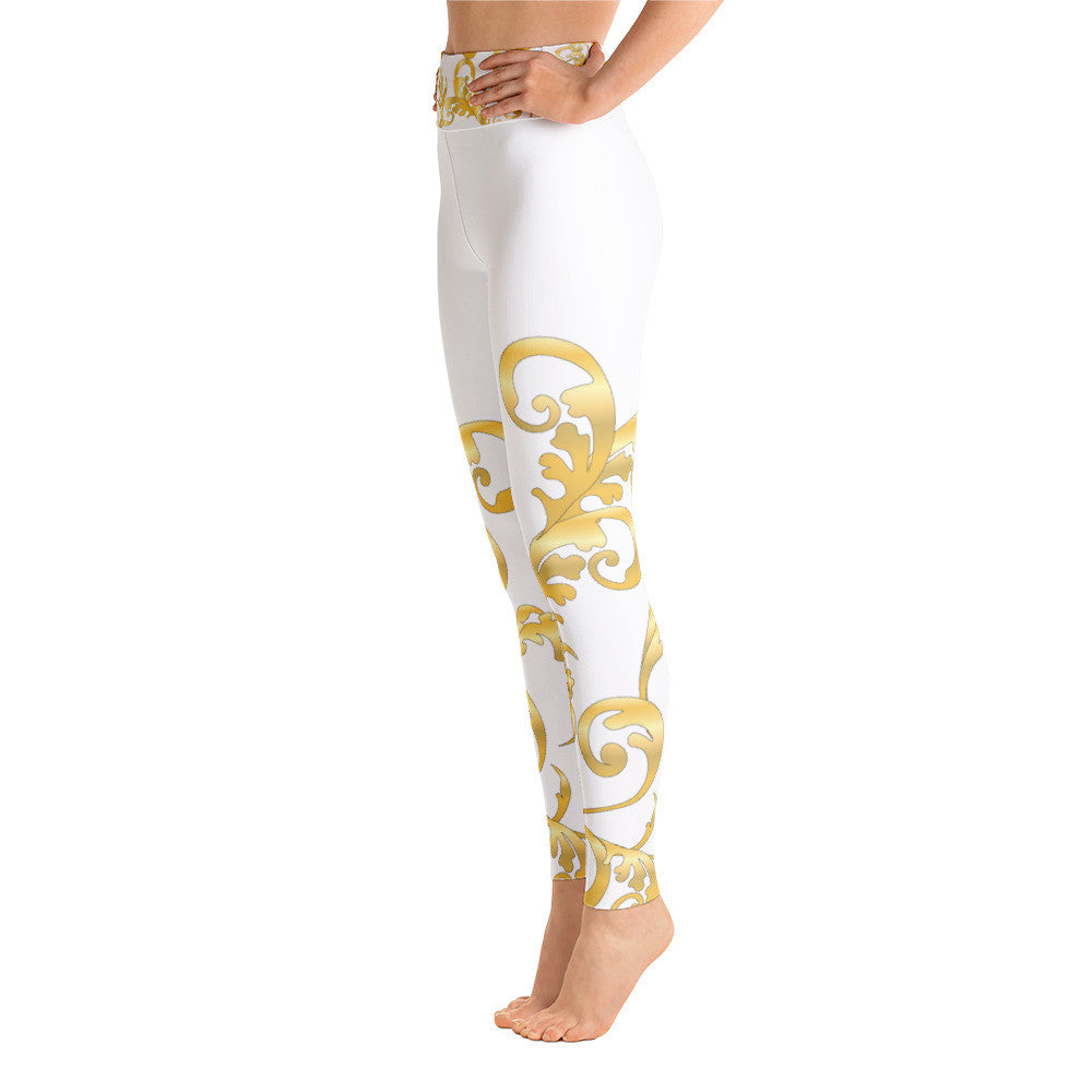 Baroque Versace Inspired  Yoga Leggings - Poetic Gangster