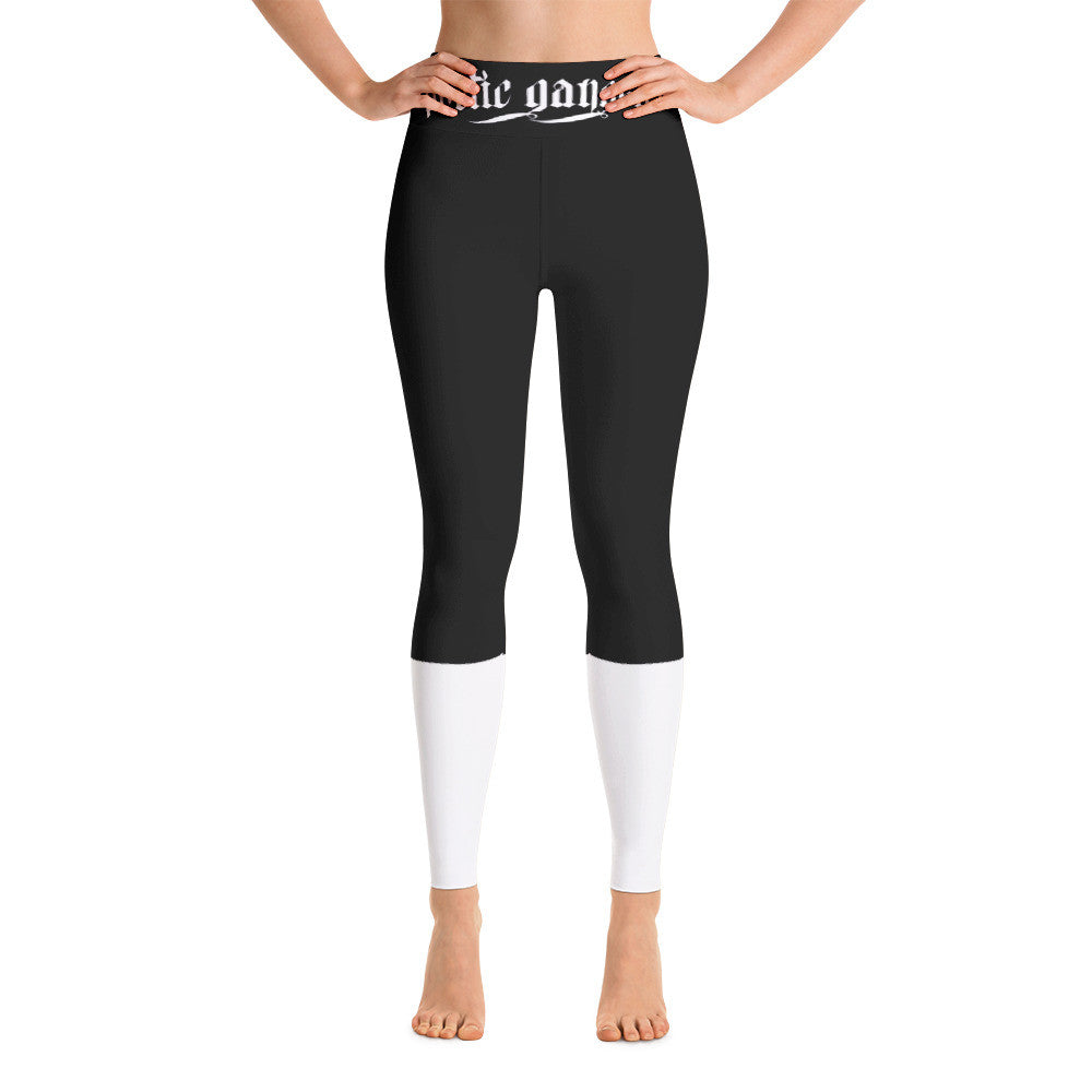 Block Out front print Yoga Leggings - Poetic Gangster