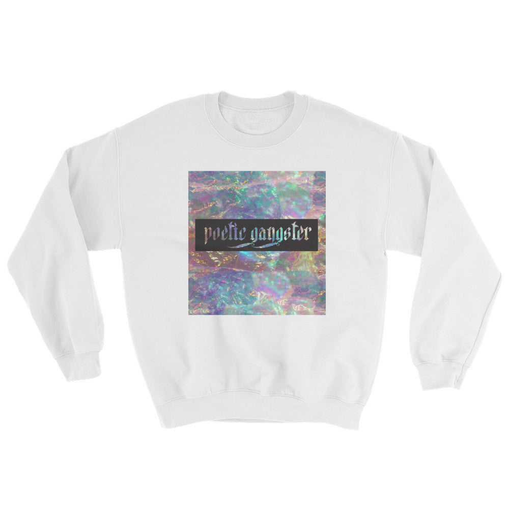 Opal Crystal White Sweater - Poetic Gangster