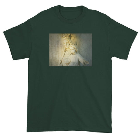 Green Ombre Angel White Tee