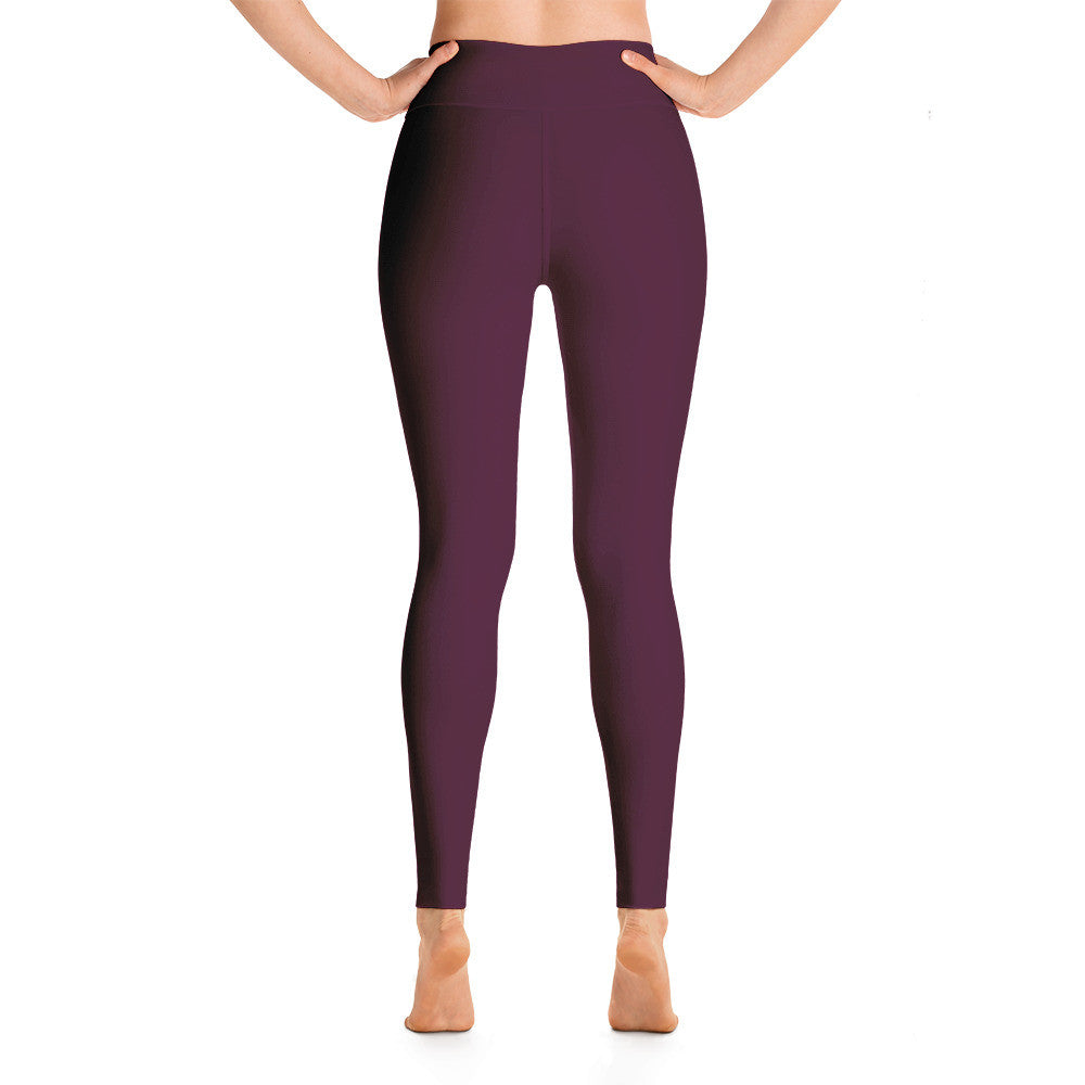 Burgundy Leggings - Poetic Gangster
