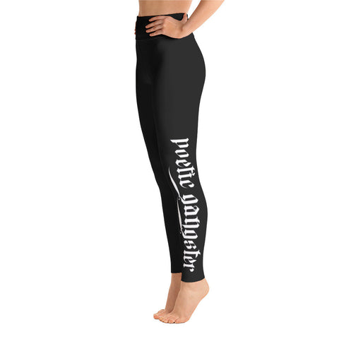 greek key white yoga Leggings