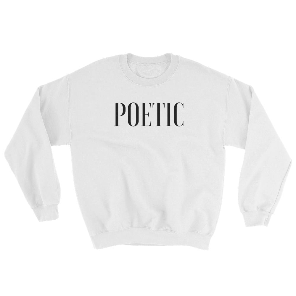 Poetic White Sweater - Poetic Gangster