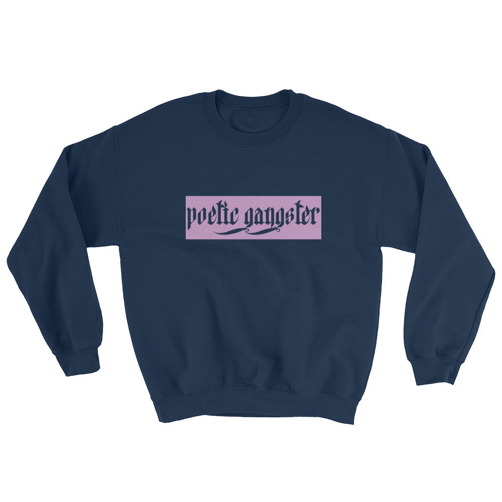 Navy Cut Out Poetic Gangster Sweater - Poetic Gangster