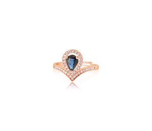 Dakry Blue Sapphire Rose Gold Ring