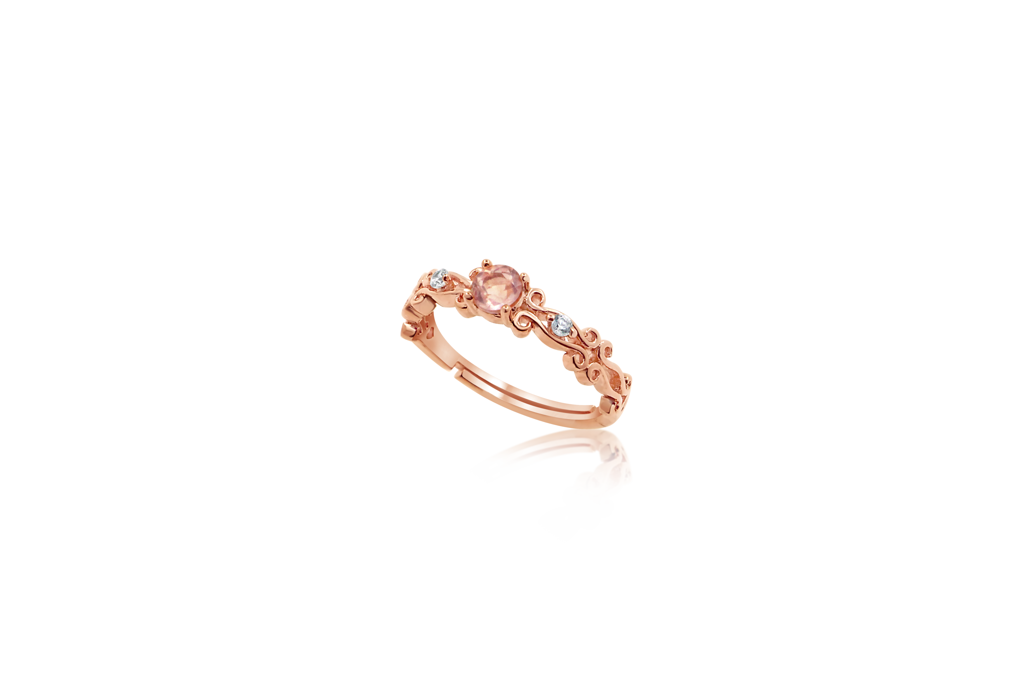 Schedio Rose Quartz Ring