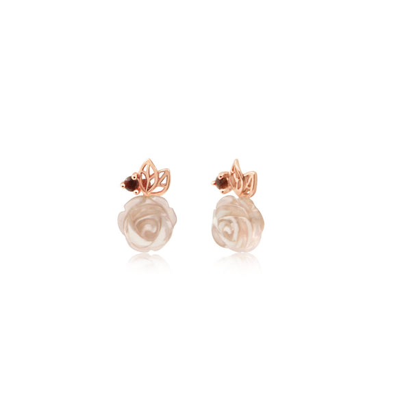 Dulce Rose Quartz Earrings