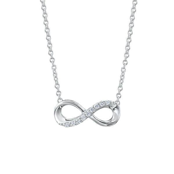 Fove Infinity White Gold Necklace