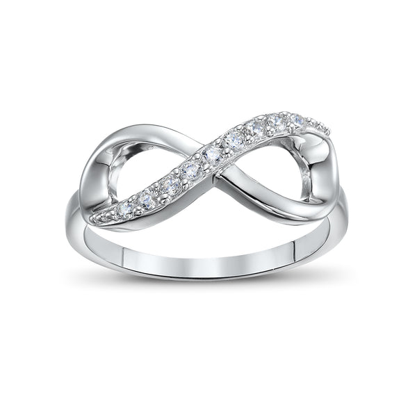 Ero's Infinity White Gold Ring