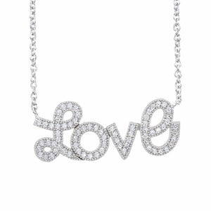 Ero's Love White Gold Necklace
