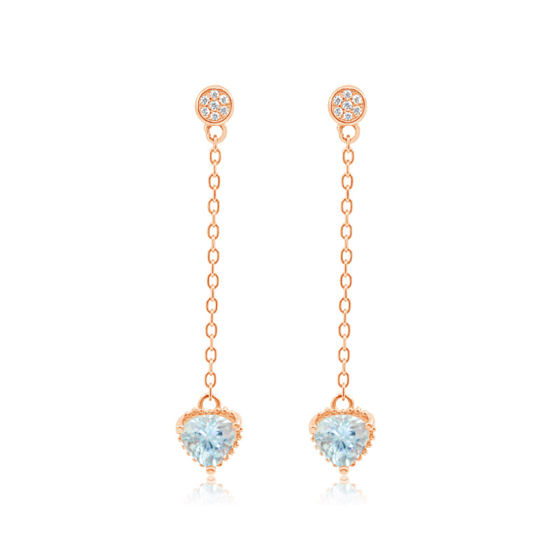 Adella Romance Ballads Rose Gold Earrings