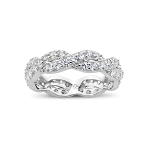 Ero's Infinity Twine White Gold Ring