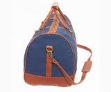 Globetrotter Holdall - Canvas | Blue/Brown