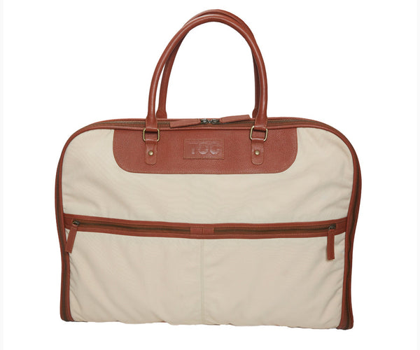 Garment Bag - Canvas | Beige/Brown