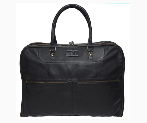 Garment Bag - Leather | Black