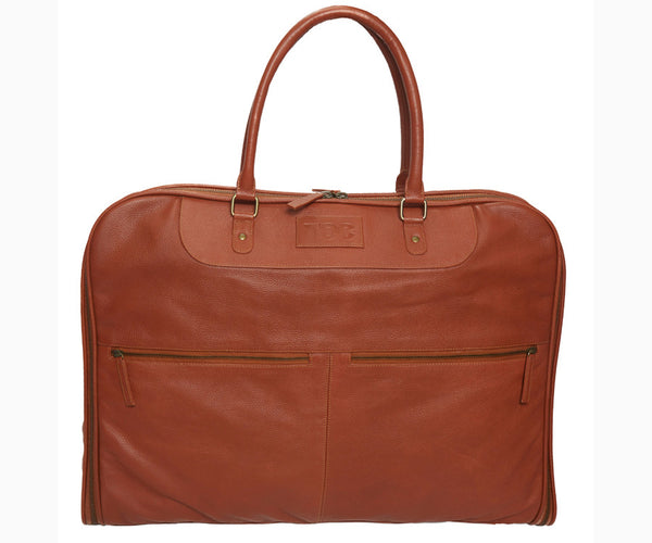 Garment Bag - Leather | Cognac