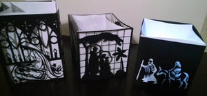 DIY Stained glass Mary and Jesus luminary
