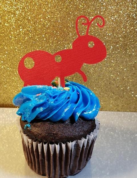 Ant cupcake topper set off 12