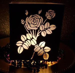 DIY The rose centerpiece / luminary
