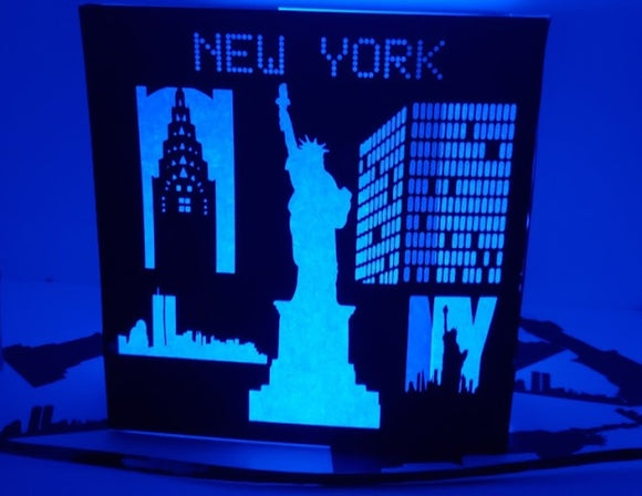 Large New York DIY centerpiece / luminary