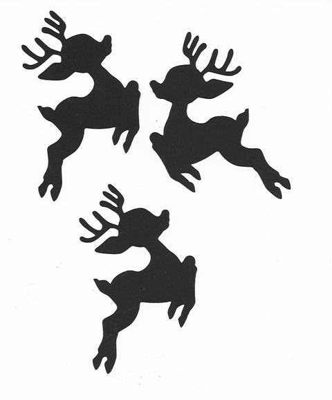 Reindeer cupcake toppers set of twelve