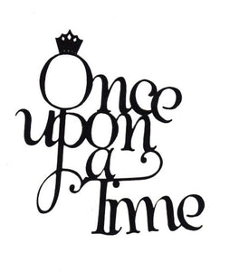 Once upon a time word silhouettes set of two different styles