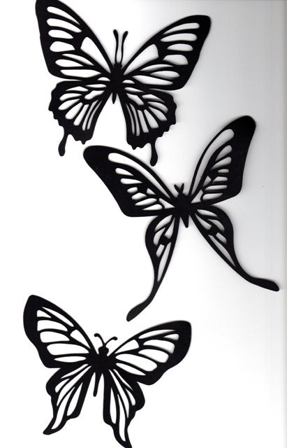 Beautiful butterflies set of three