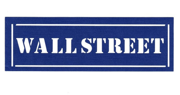 Wall street sign silhouette  set of two