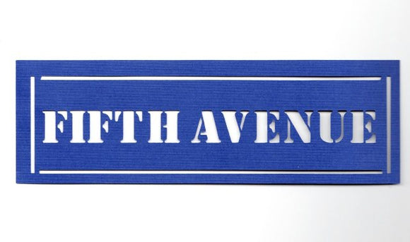 Fifth Avenue street sign silhouette  set of two