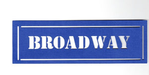 Broadway street sign silhouette  set of two