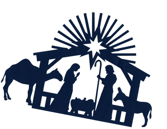 One piece Nativity scene silhouette