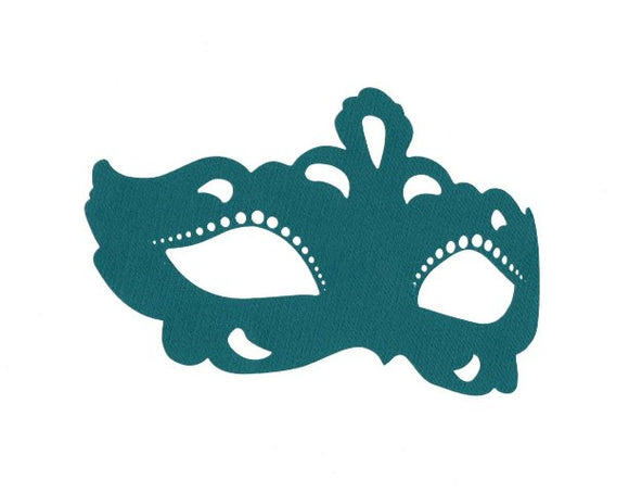 Masquerade mask cupcake toppers set of six