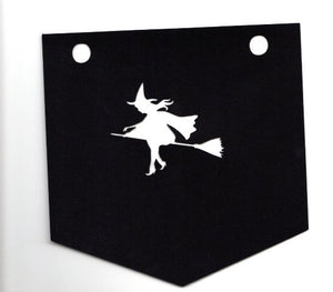 Bats and witches buntings set of four