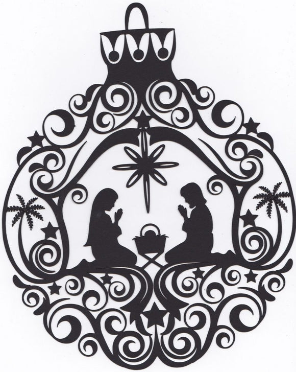 Stunning Nativity Christmas ornament