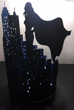 DIY Female superhero extra large skyline