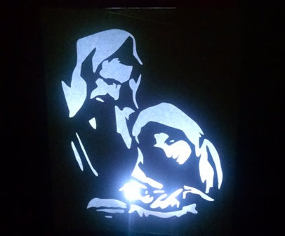 The Holy family luminary
