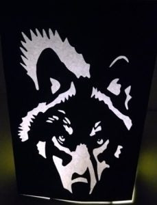 Wolf face luminary
