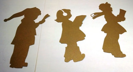 Carolers silhouettes set of three