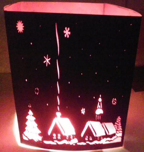 A cold winters night centerpiece / luminary