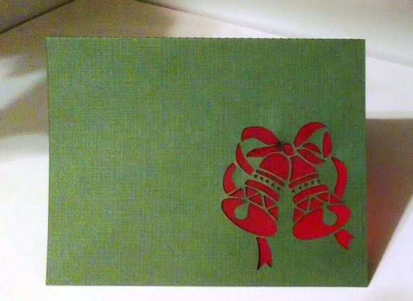 Christmas bells place cards set of six