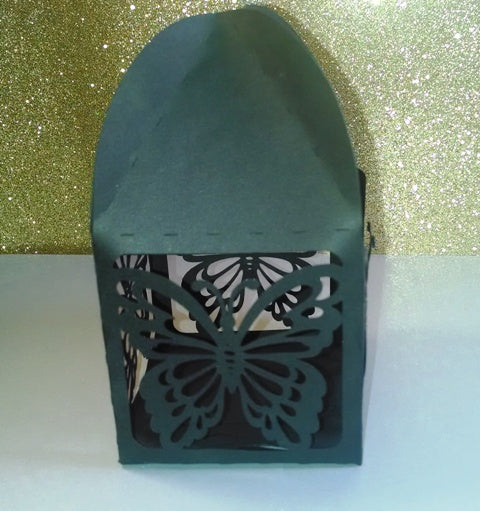 DIY tent top butterfly box set of four