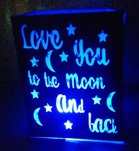 DIY Love you to the moon and back centerpiece / luminary