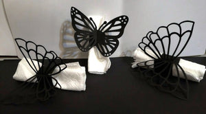 Butterfly napkin rings set of two different styles