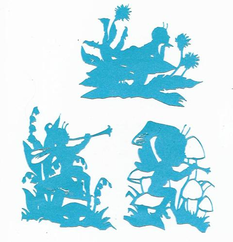 Fantasy Forrest pack set of five silhouettes