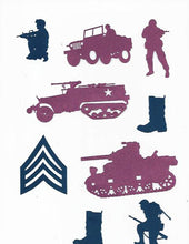 Military cupcake toppers set of twelve