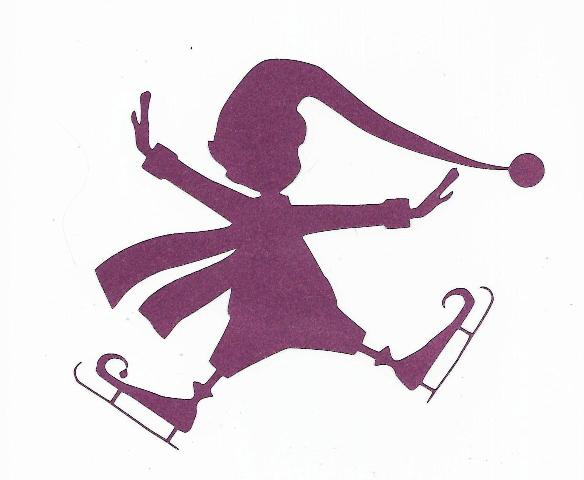 Skating elf silhouette