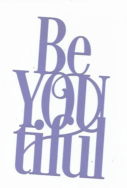 Beyoutiful word silhouette
